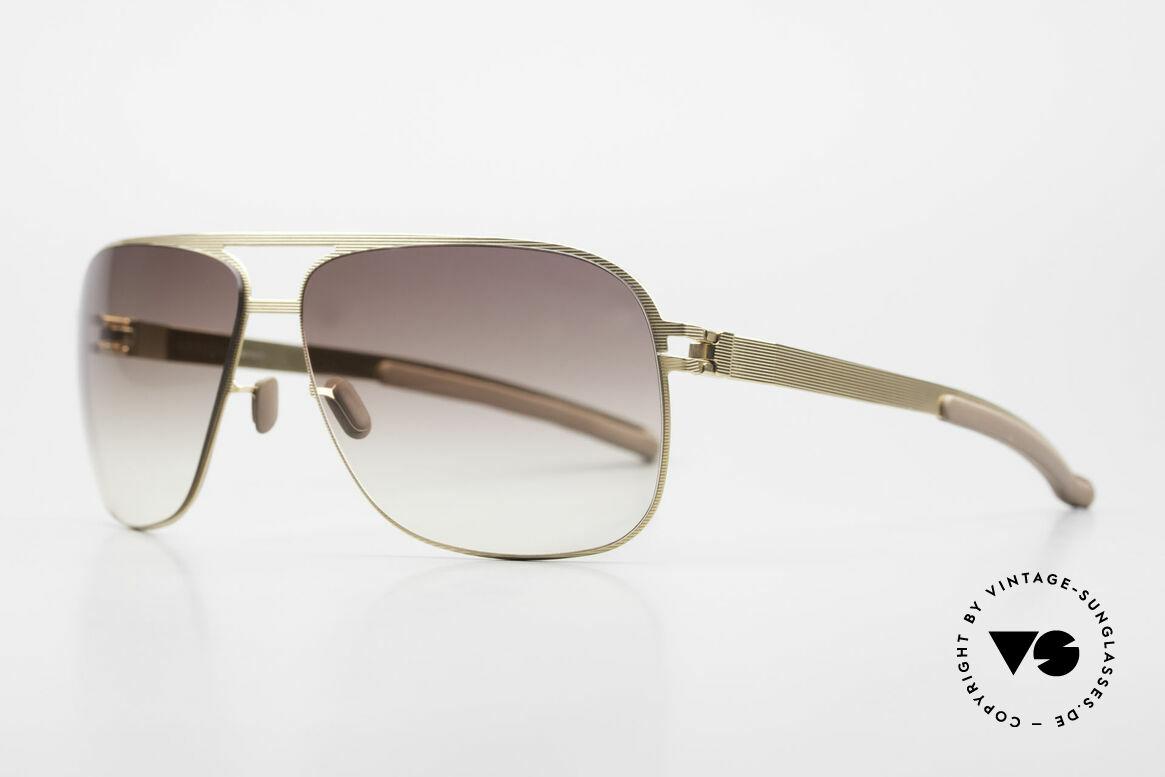 Mykita Luke Rare Luxury Shades From 2008, Model No.1 Sun Luke Goldline, brown-gradient, 63/13, Made for Men