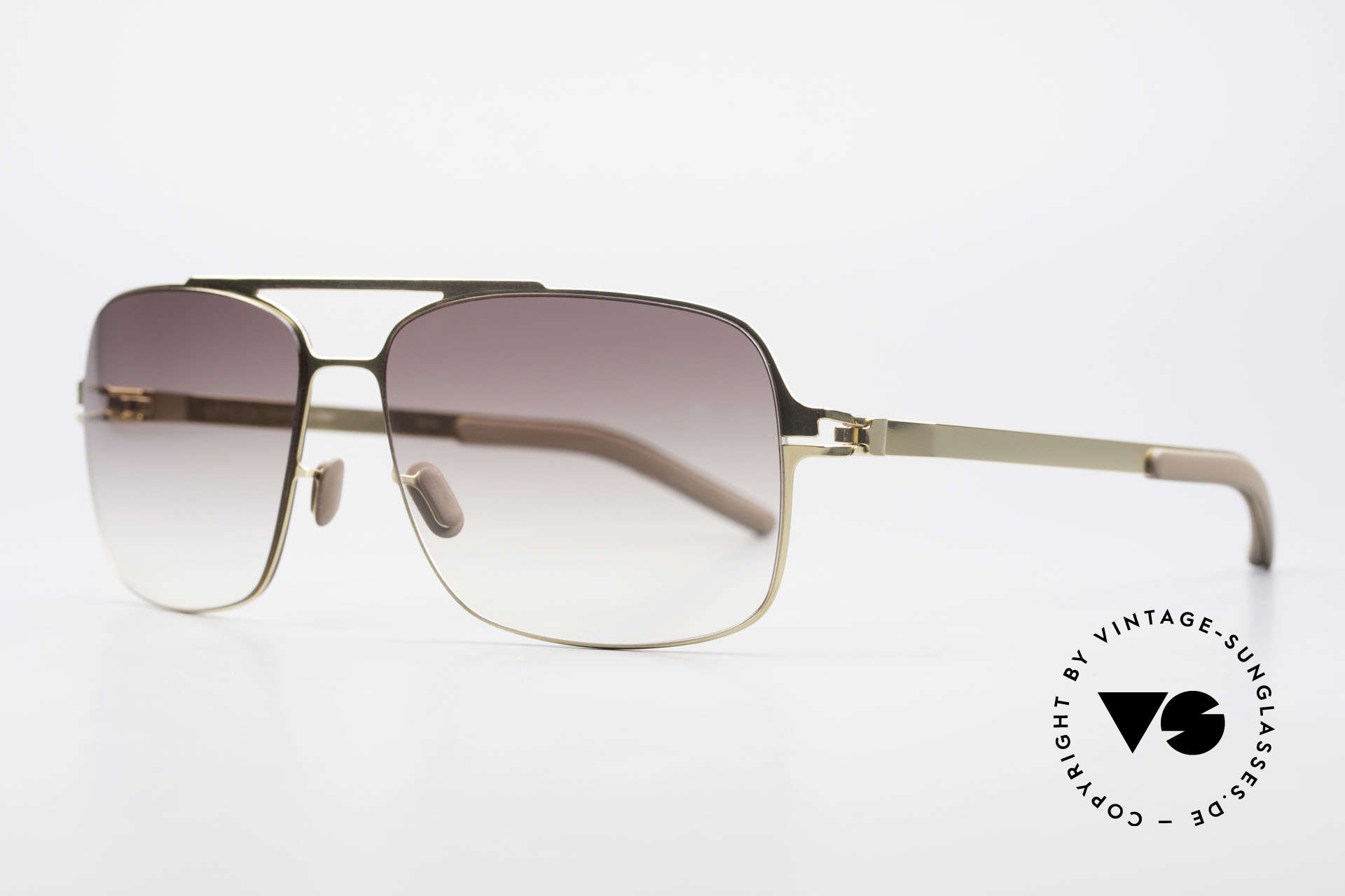 Mykita Troy Mykita Collection No 1 Shades, Collection No.1 Troy Glossygold, brown-gradient, 58/15, Made for Men