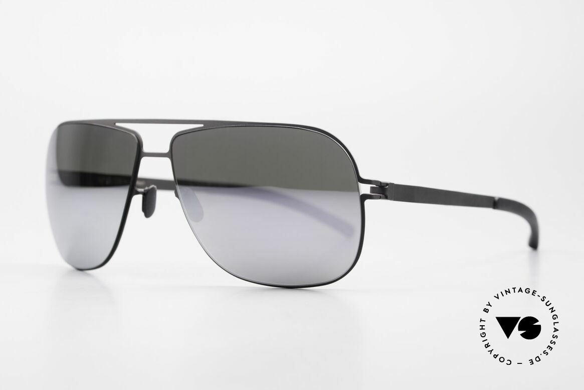 Mykita Rolf Mirrored Celebrity Sunglasses, Mod. No.1 Sun Rolf Black, darkgrey-FLASH, size 59/12, Made for Men and Women