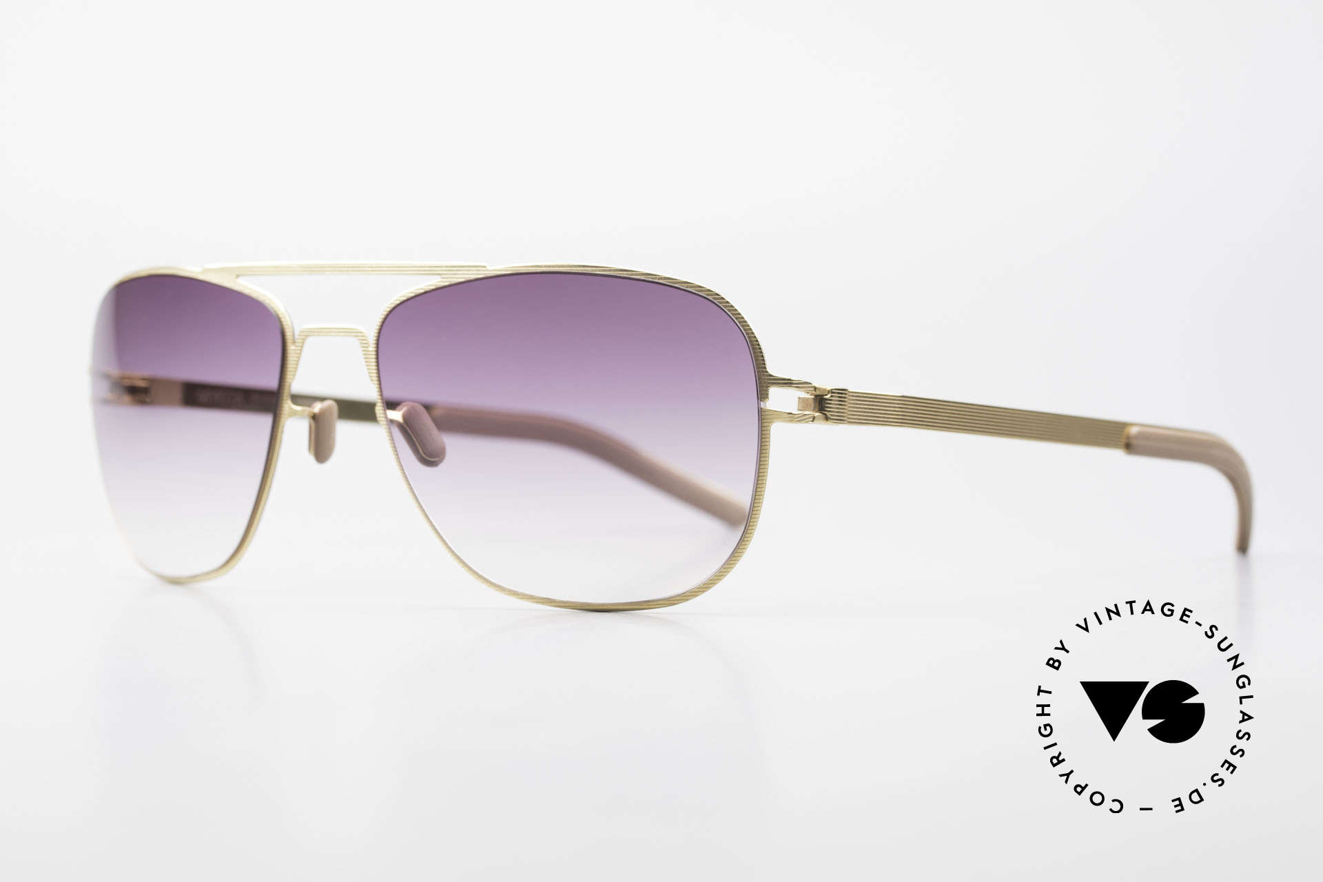 Mykita Howard Vintage Unisex Mykita Shades, Mod. No.1 Sun Howard Goldline, purple-gradient, 58/18, Made for Men and Women