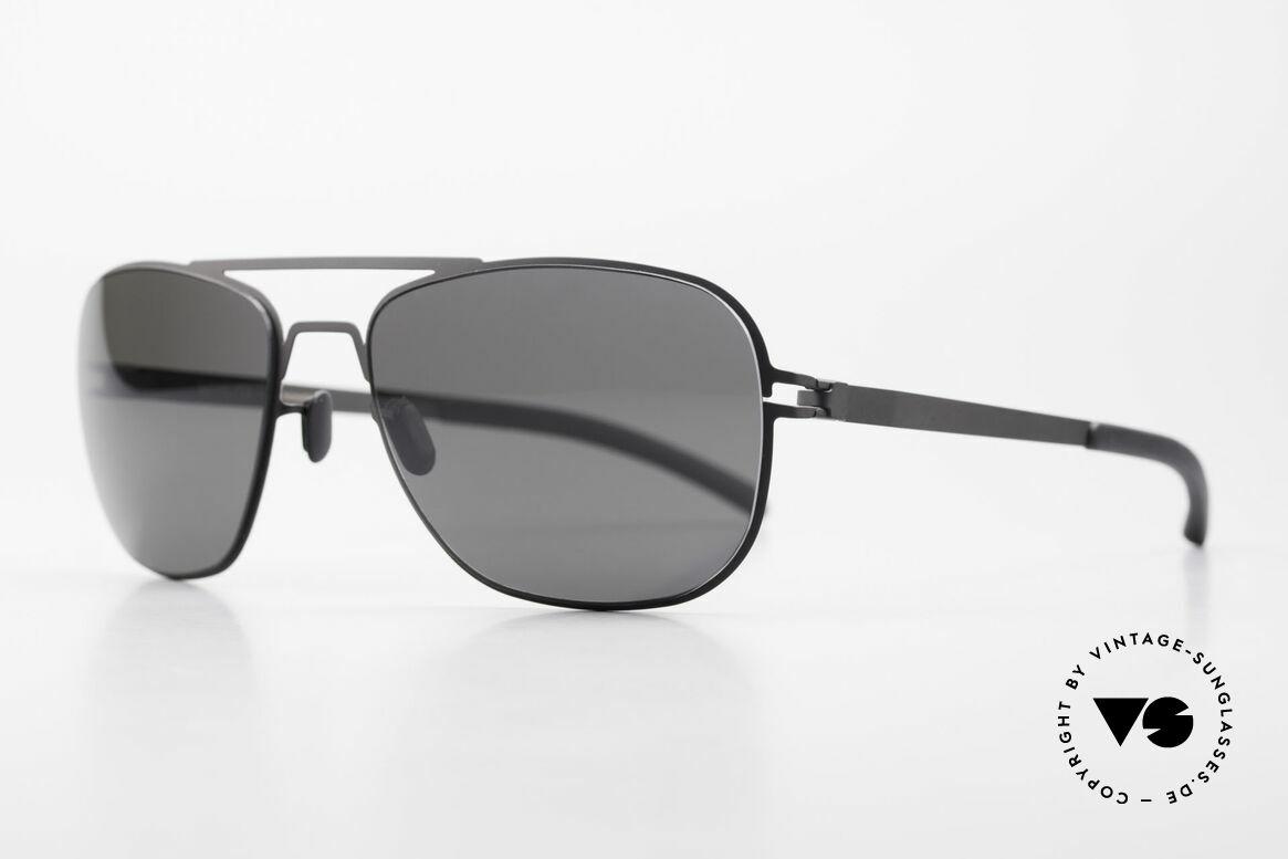 Mykita Howard Polarized Sunglasses Unisex, Model No.1 Sun Howard Black, black POLARIZED, 56/18, Made for Men and Women
