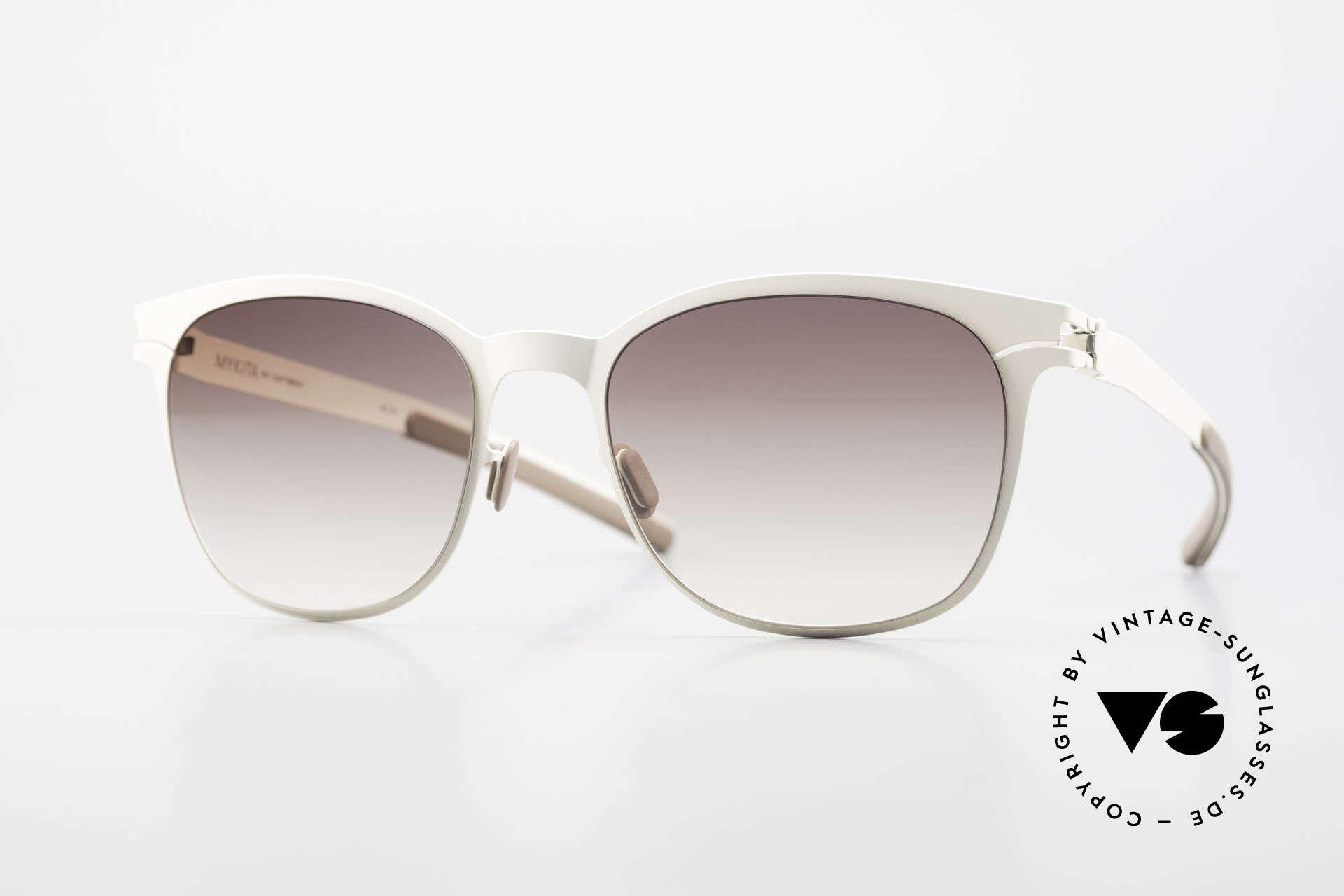 Mykita Greta Ladies Sunglasses From 2009, Collection No.1 Greta Offwhite, brown-gradient, 54/20, Made for Women