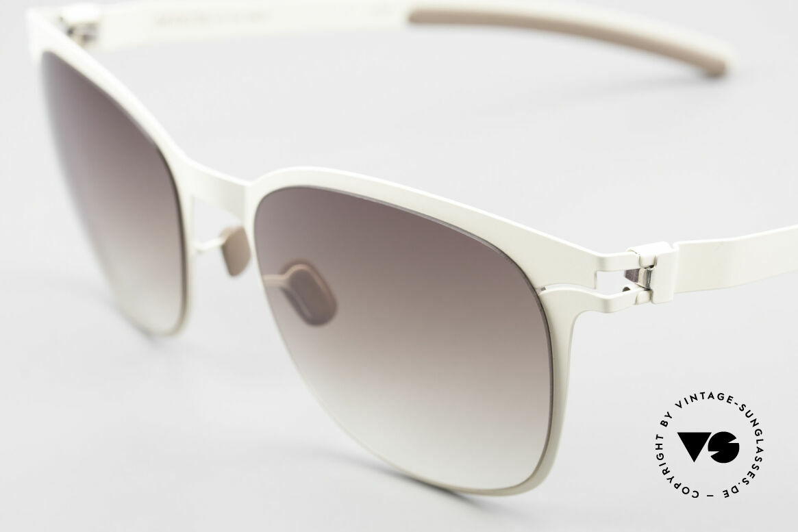 """Mykita Greta Ladies Sunglasses From 2009, very interesting frame coloring in """"off-white"""" / creamy, Made for Women"""