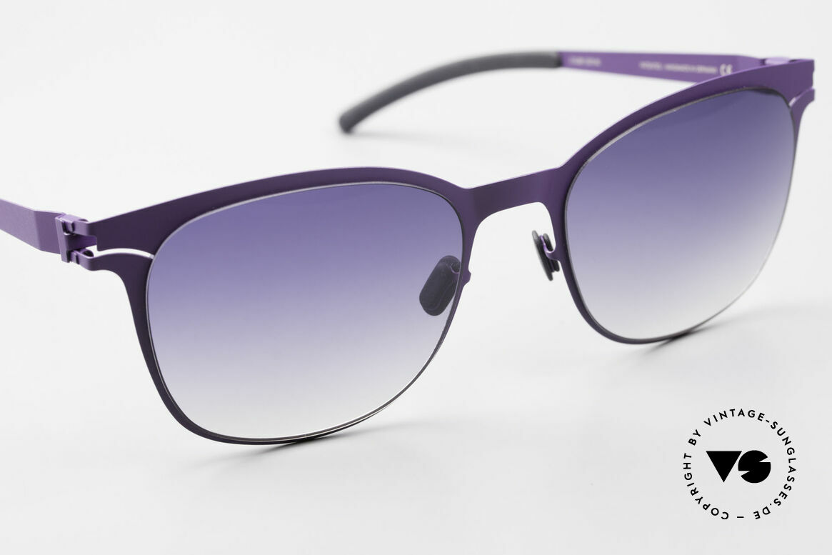 "Mykita Greta Ladies Designer Sunglasses, very interesting frame coloring in ""off-white"" / creamy, Made for Women"