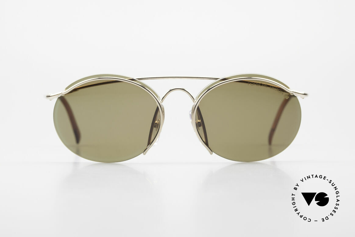 Porsche 5690 2 in 1 Sunglasses Two Styles, so to speak: two sunglasses in one model, + orig. case!, Made for Men and Women