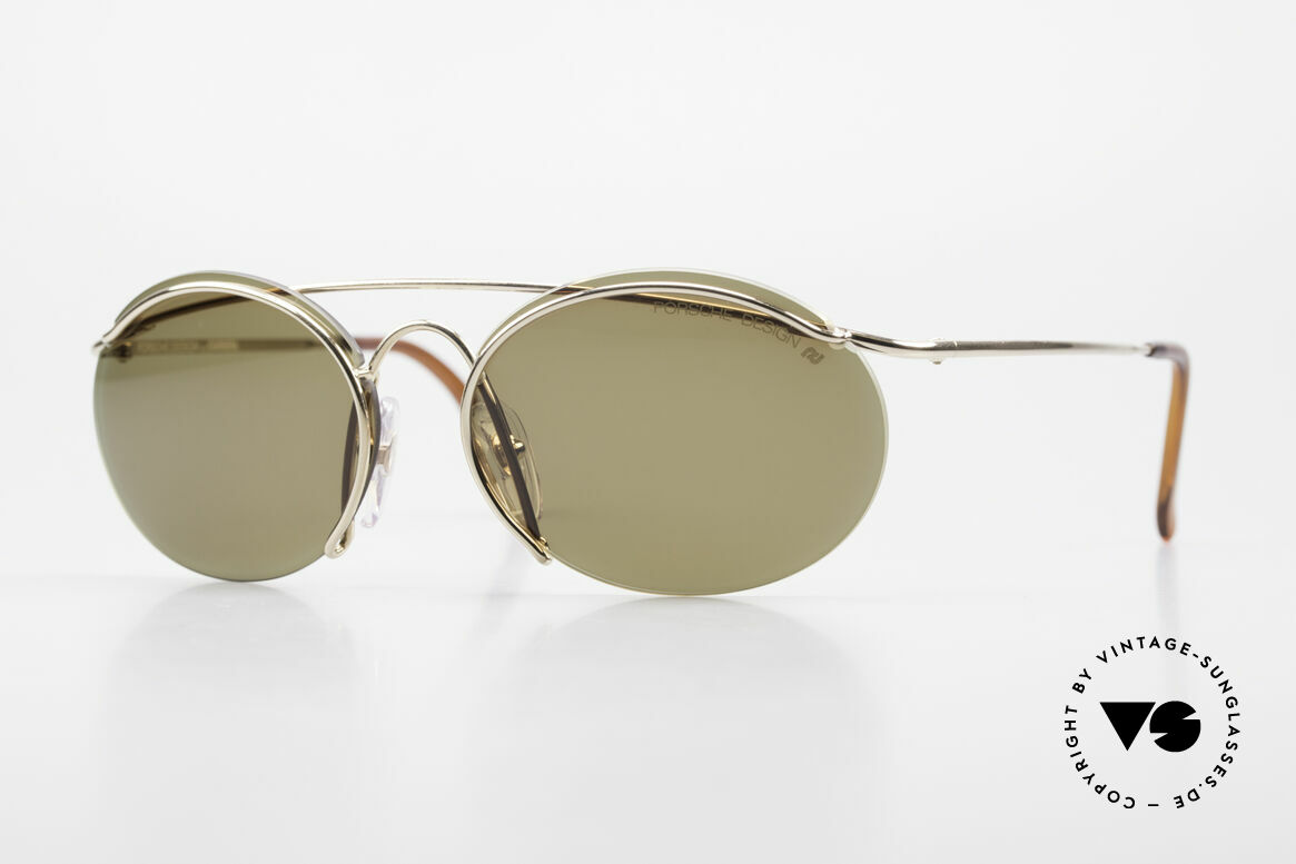 Porsche 5690 2 in 1 Sunglasses Two Styles, ultra rare Porsche Design vintage model from app. 1995, Made for Men and Women