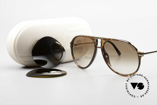 Carrera 5595 80's Shades With Extra Lenses, NO RETRO sunglasses, but a 35 years old original, Made for Men