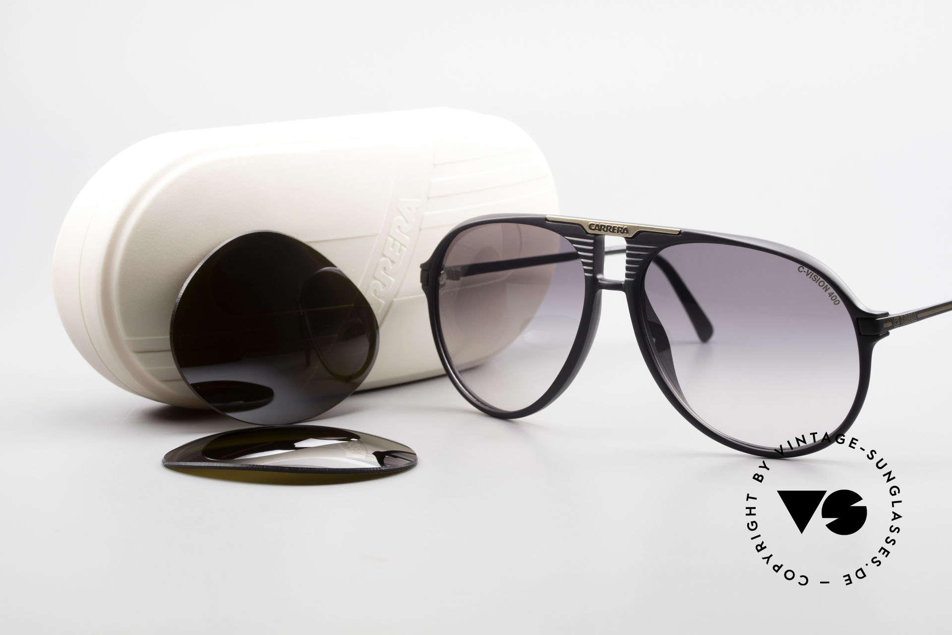 Carrera 5595 80's Shades Extra Sun Lenses, NO RETRO sunglasses, but a 35 years old original, Made for Men