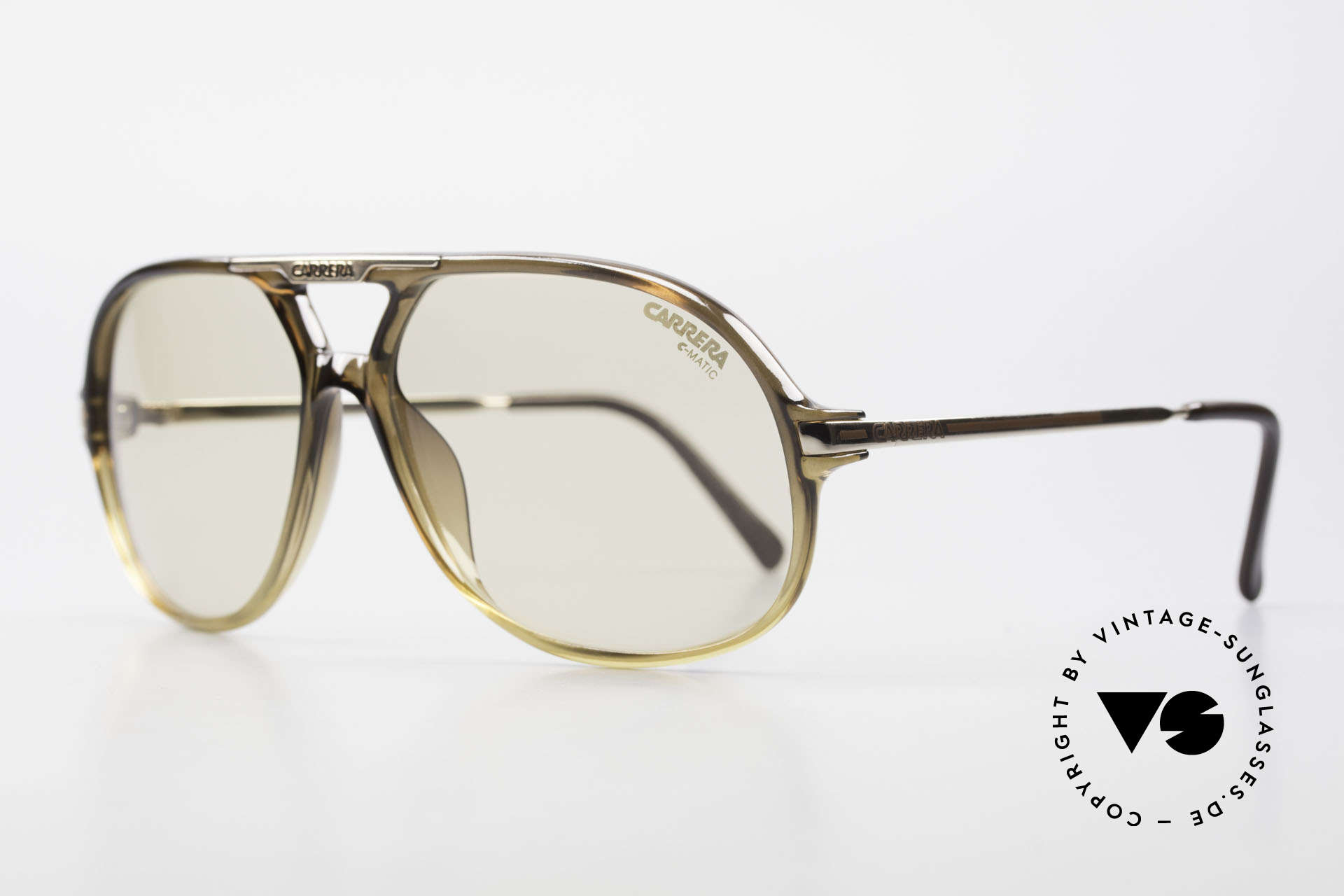 Carrera 5411 C-Matic Lenses Darken Automatically, lenses are darker in the sun and lighter in the shade, Made for Men