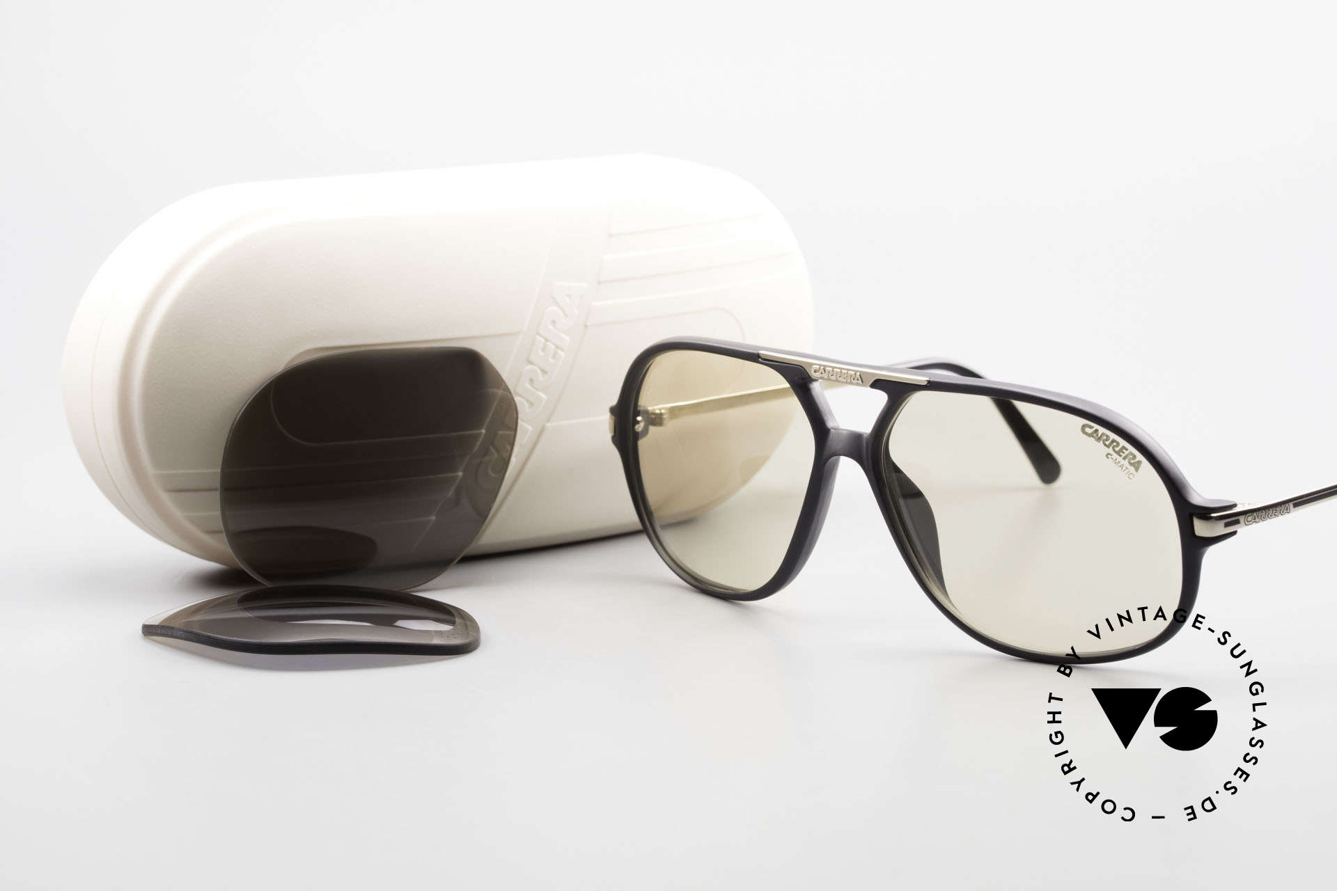 Carrera 5411 C-Matic With Extra Polarized Lenses, NO RETRO sunglasses, but a 30 years old ORIGINAL!, Made for Men