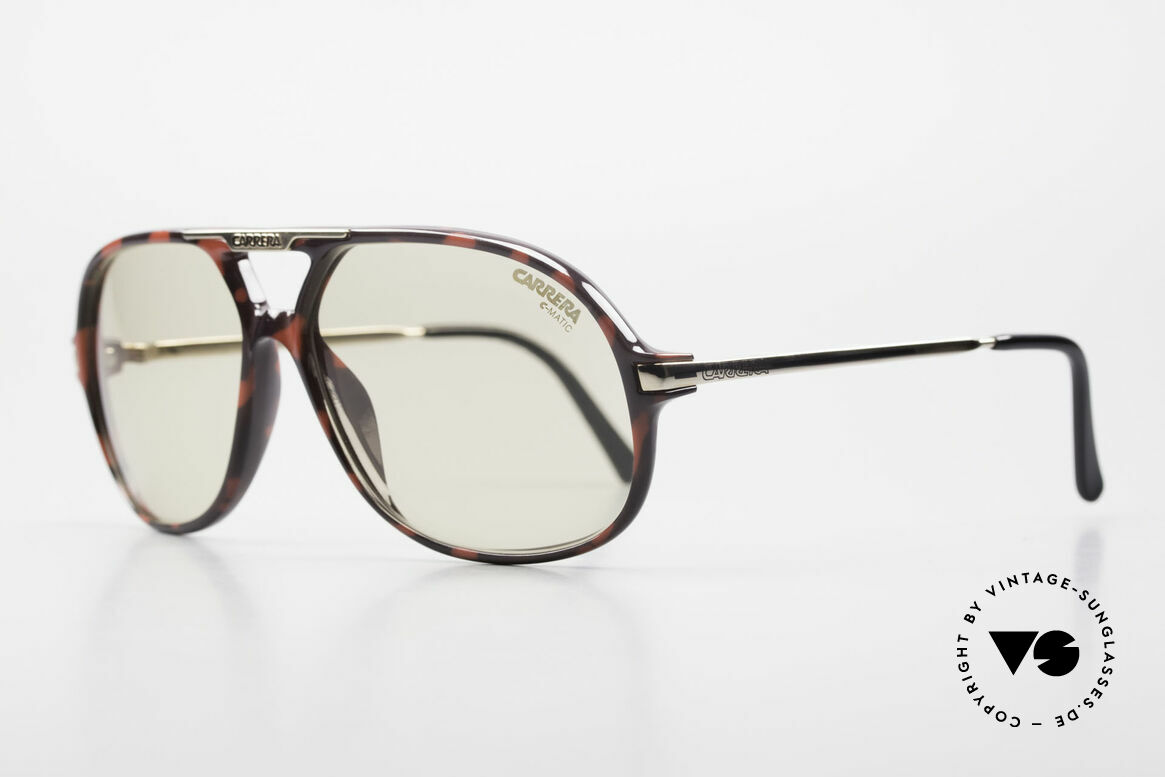 Carrera 5411 C-Matic Photochromic Automatic Lens, lenses are darker in the sun and lighter in the shade, Made for Men