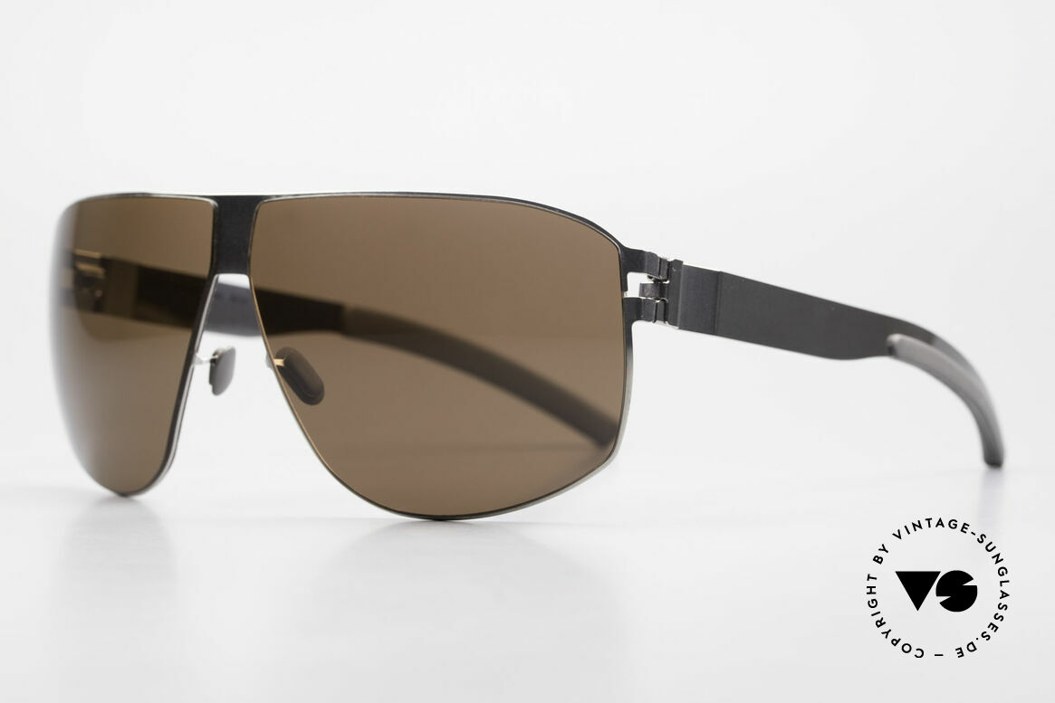 Mykita Terrence Mykita Vintage Sunglasses 2011, No.1 Sun Terrence Shinysilver, brown-solid, size 66/08, Made for Men