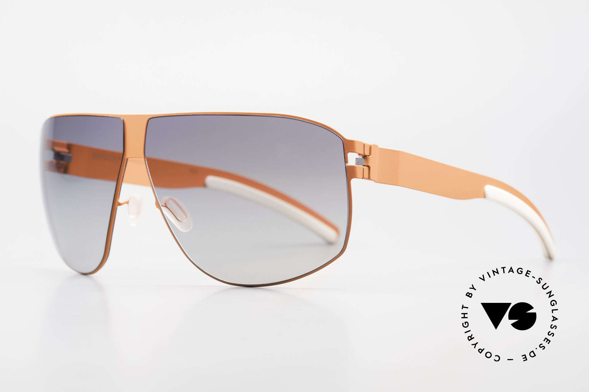 Mykita Terrence Mykita Shades Neonorange, innovative and flexible metal frame in Large to XL size, Made for Men