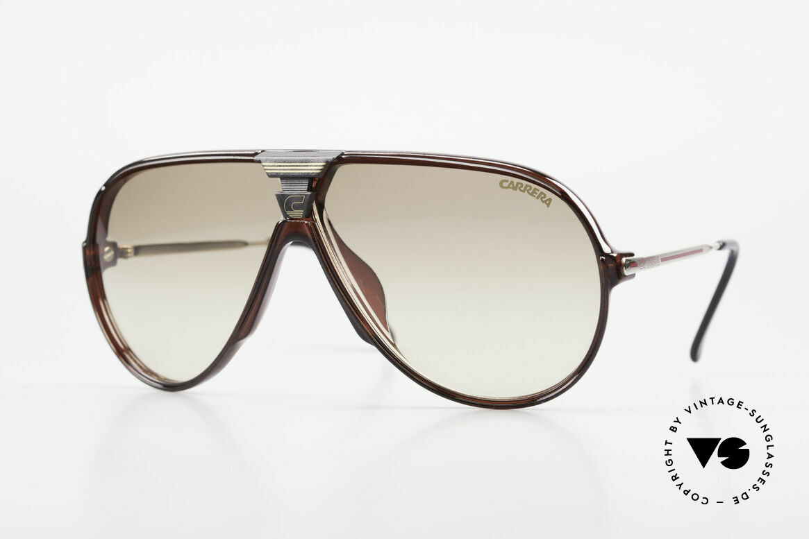 Carrera 5593 80's Aviator Sports Sunglasses, sensational sports shades by Carrera from 1988, Made for Men