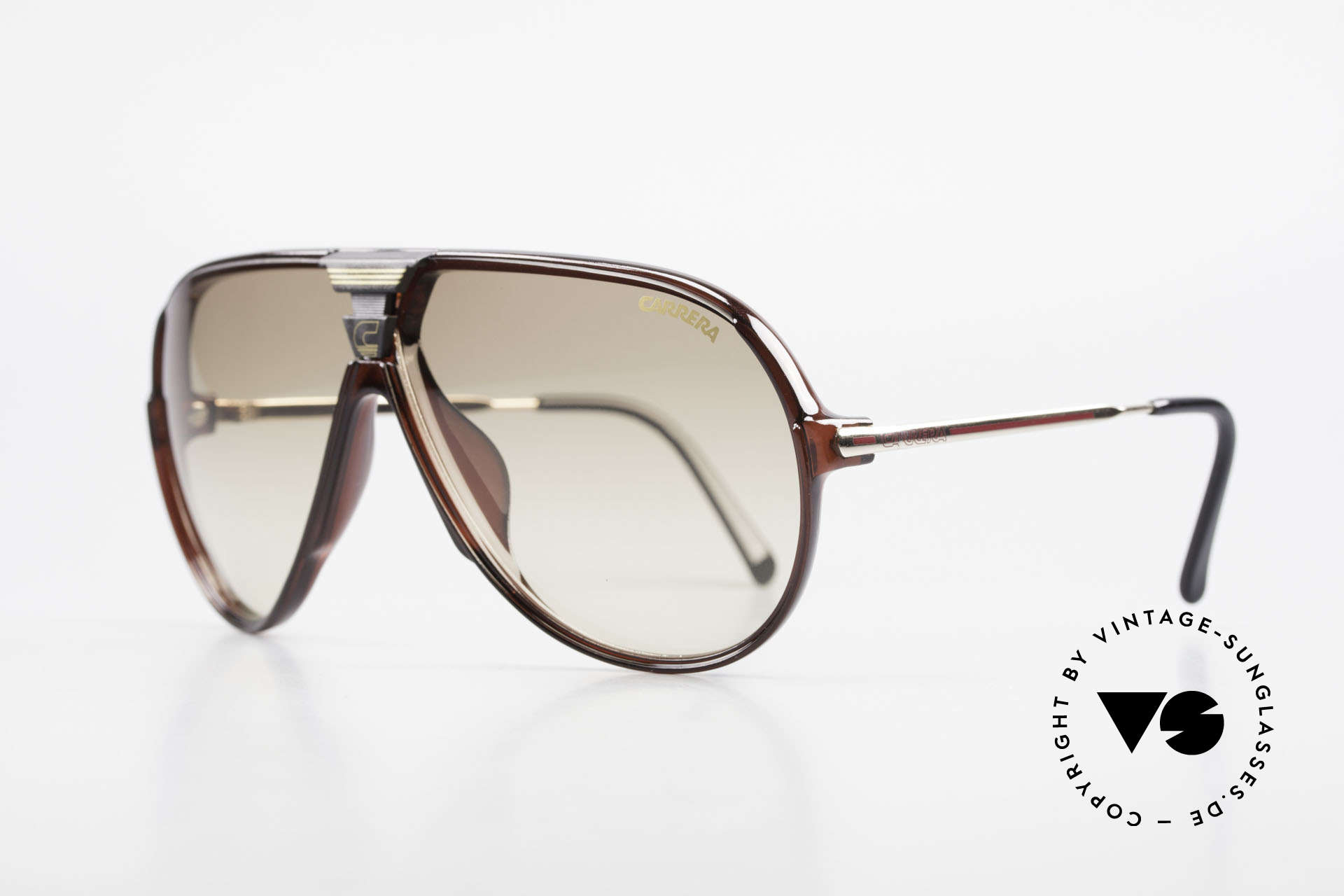 Carrera 5593 80's Aviator Sports Sunglasses, state-of-the-art lenses (2 sets) & with orig. case, Made for Men