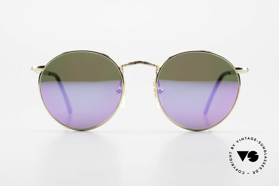 John Lennon - Imagine With Pink Mirrored Sun Lenses, model 'IMAGINE': panto sunglasses in small 49mm size, Made for Men and Women