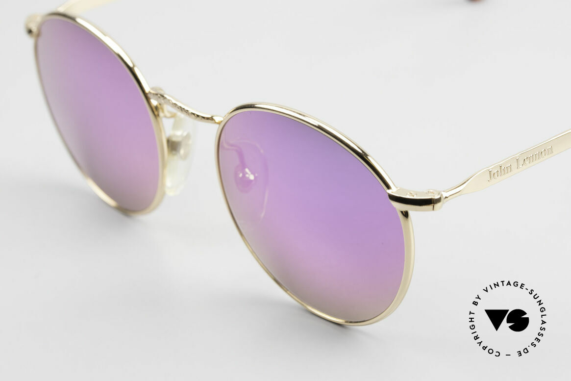 John Lennon - Imagine With Pink Mirrored Sun Lenses, pink lenses: so, you can see the world thru pink glasses!, Made for Men and Women
