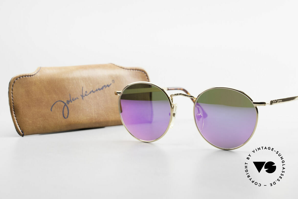 John Lennon - Imagine With Pink Mirrored Sun Lenses, Size: small, Made for Men and Women