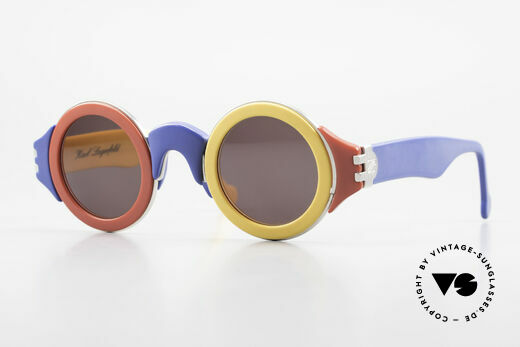 Karl Lagerfeld 3604 Round Multicolored 80s Shades Details