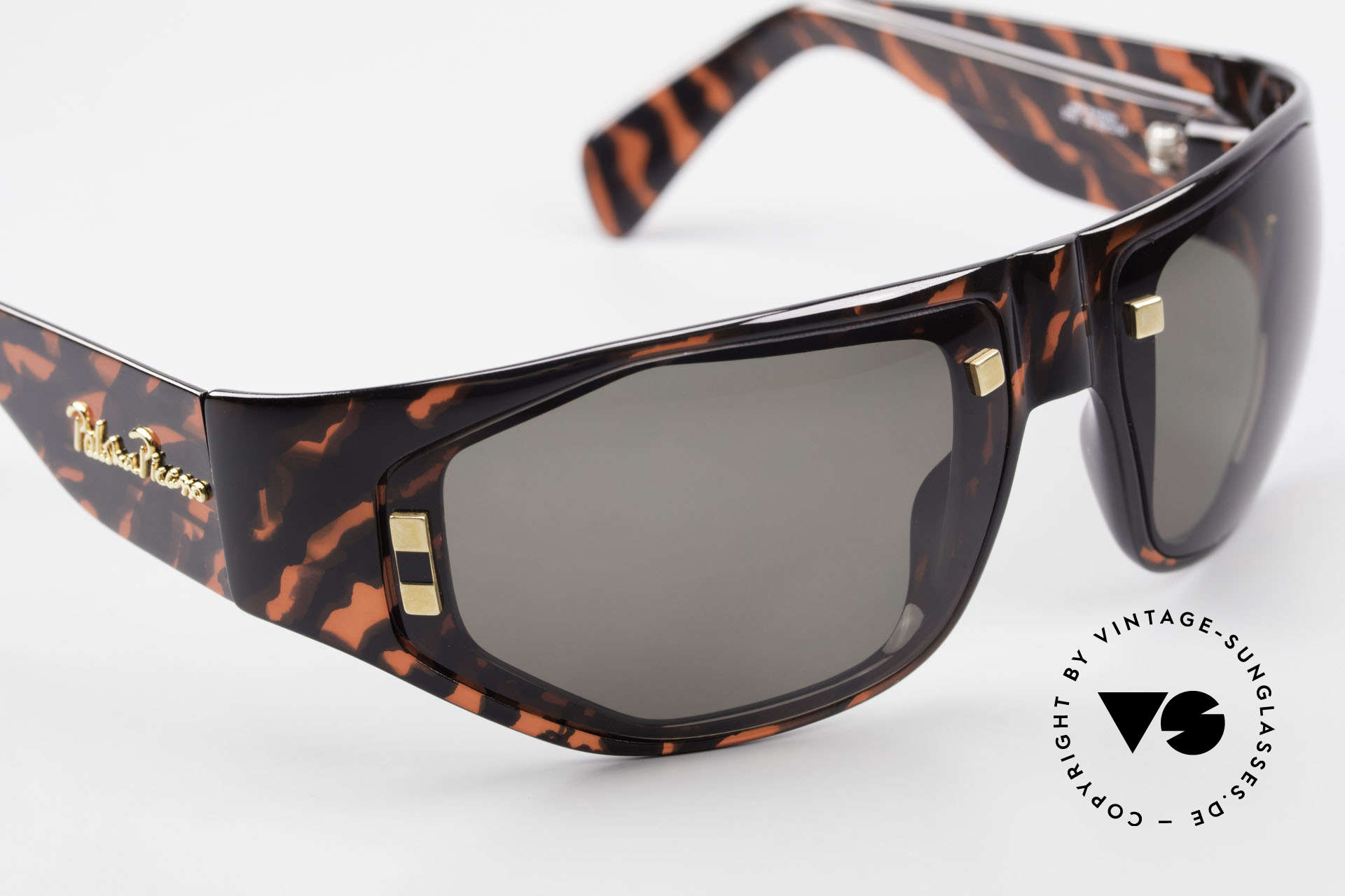 Paloma Picasso 3701 90's Wrap Sunglasses Ladies, wrap around shades: the frame wraps the face round, Made for Women