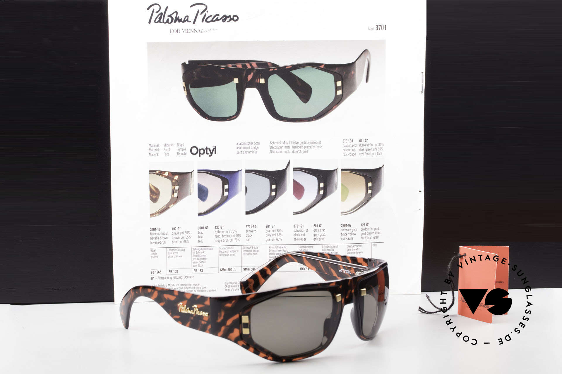 Paloma Picasso 3701 90's Wrap Sunglasses Ladies, Size: medium, Made for Women