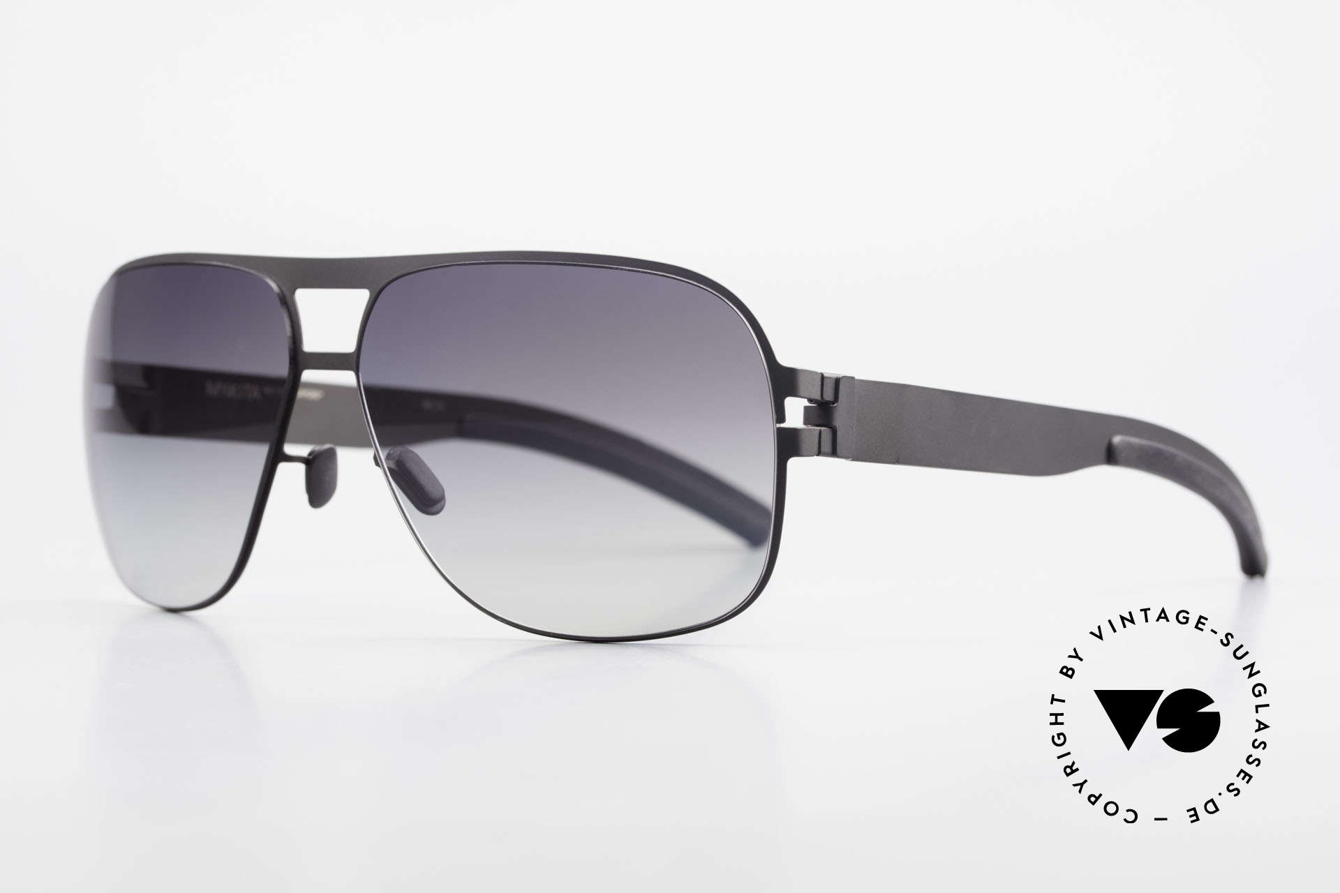 Mykita Clifford 2000's Vintage Designer Shades, Mod. No.1 Sun Clifford Black, black-gradient, in 62/12, Made for Men