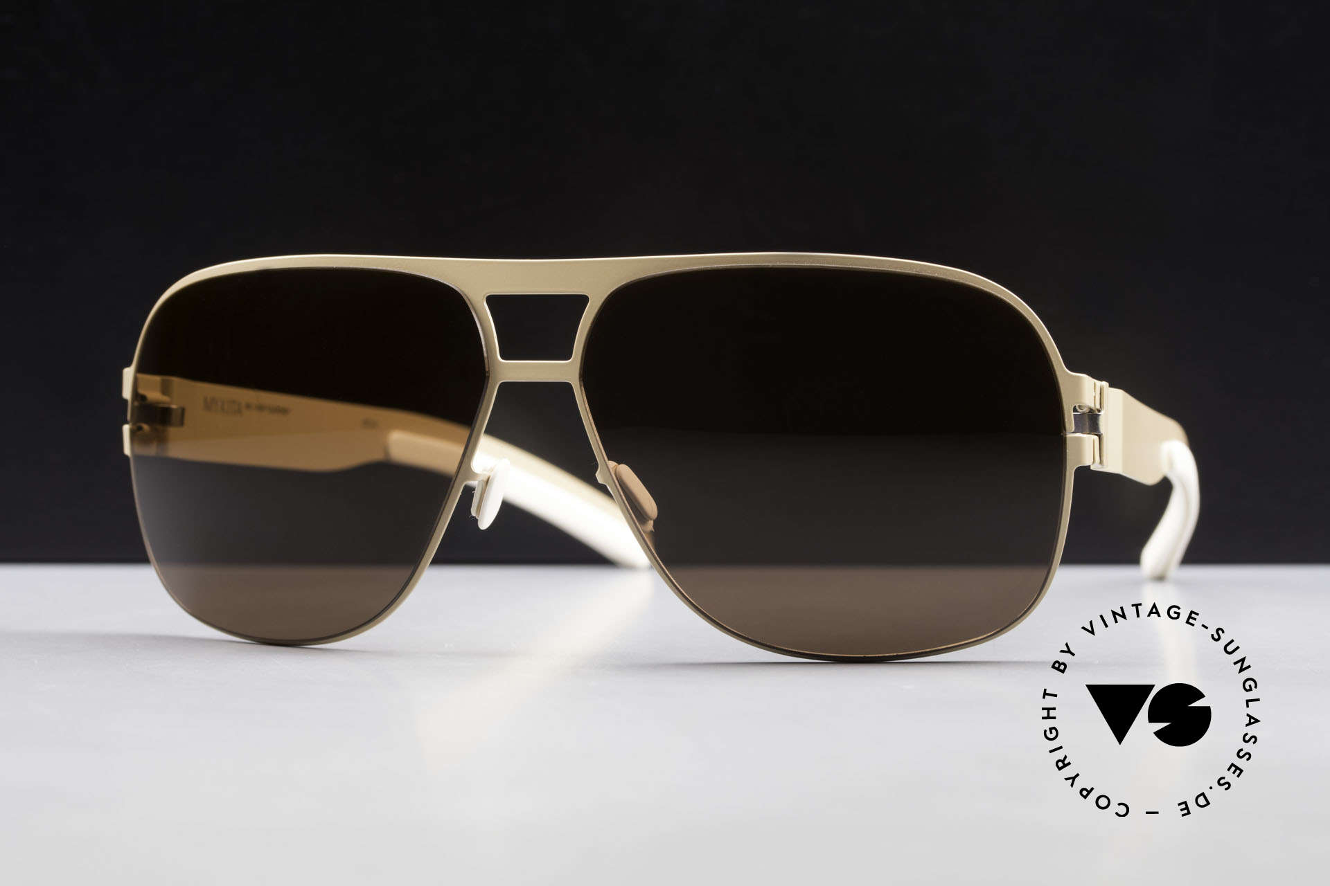 Mykita Clifford 2000's Aviator Vintage Shades, Collection No.1 Sun Clifford Nude, brown-solid, 62/12, Made for Men