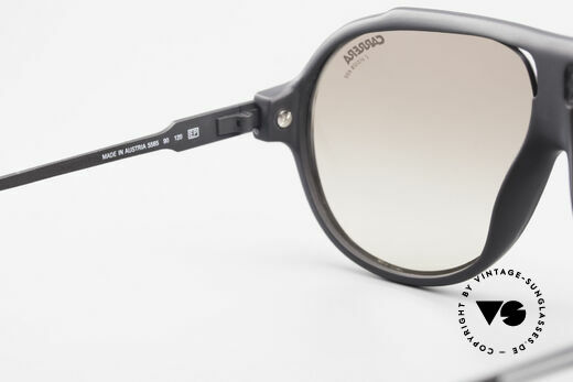 Carrera 5565 Old Sunglasses 1980's Vintage, black frame with brown-gradient lenses (100% UV prot.), Made for Men and Women