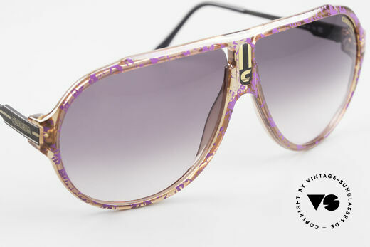 Carrera 5565 Old Vintage 1980's Sunglasses, unique frame pattern (AUBERGINE SPLINTER EFFECT), Made for Men and Women