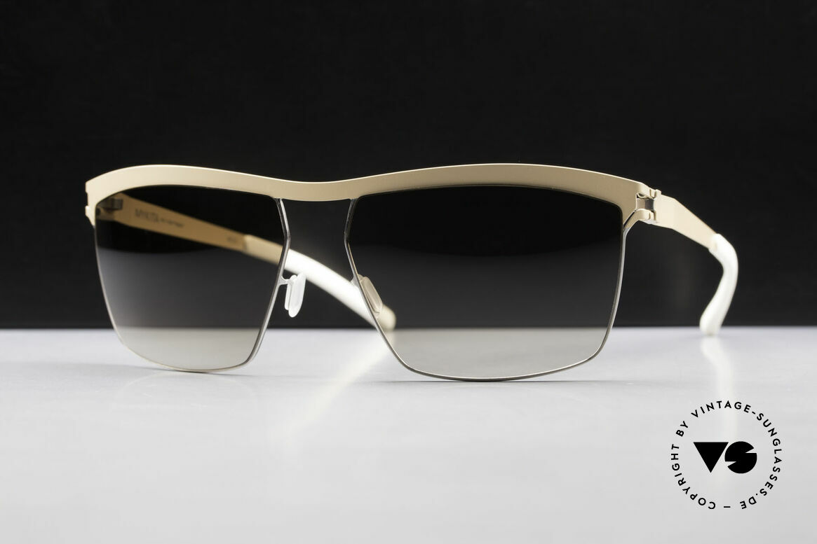 Mykita Tiago Designer Sunglasses Unisex, Collection No.1 Tiago Silver/Nude, olive-gradient, 60/15, Made for Men and Women