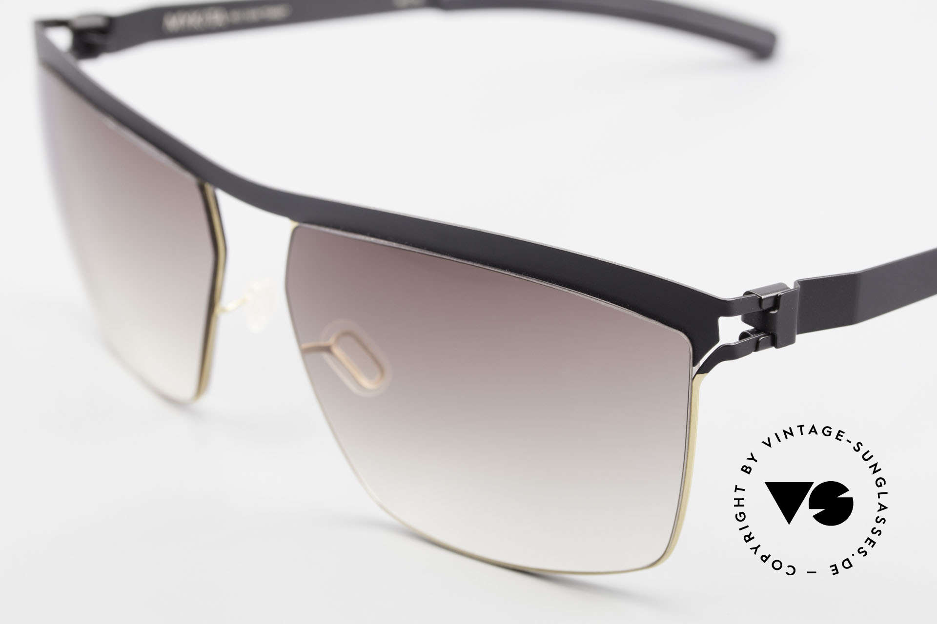 Mykita Tiago Unisex Designer Sunglasses, innovative and flexible metal frame = One size fits all!, Made for Men and Women