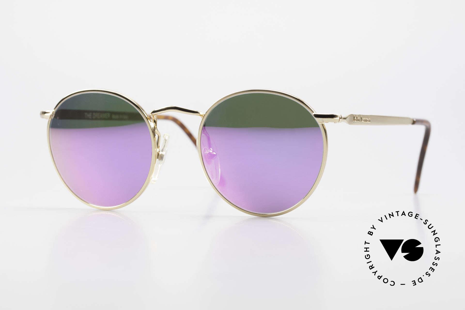 John Lennon - The Dreamer With Pink Mirrored Sun Lenses, vintage glasses of the original 'John Lennon Collection', Made for Men and Women