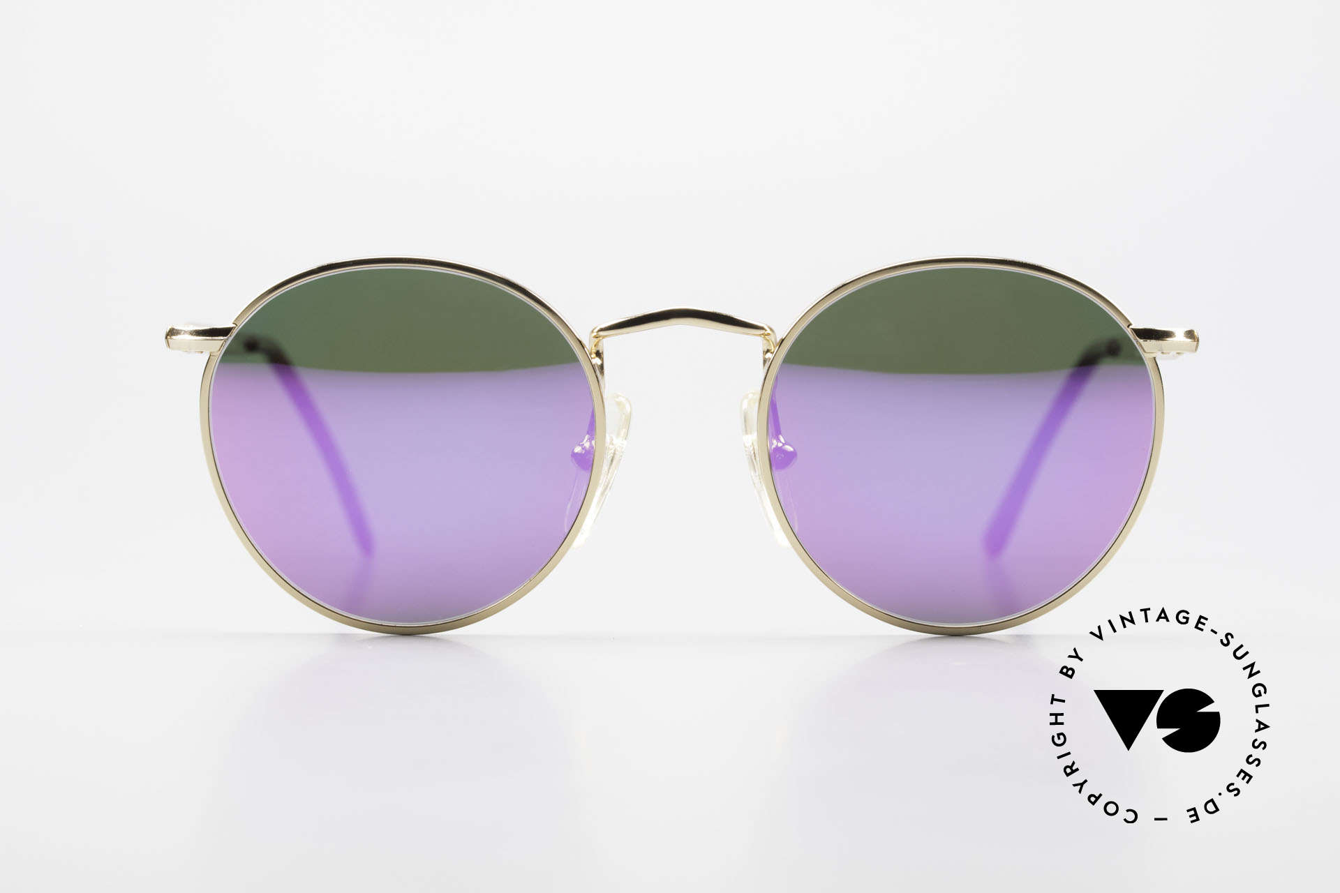 John Lennon - The Dreamer With Pink Mirrored Sun Lenses, mod. 'The Dreamer': panto sunglasses in 47mm size (XS), Made for Men and Women
