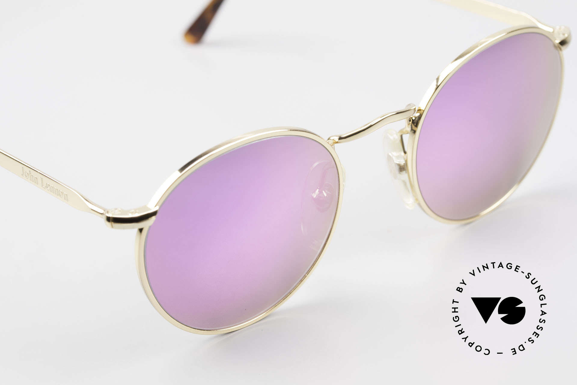 John Lennon - The Dreamer With Pink Mirrored Sun Lenses, NO RETRO PANTO SUNGLASSES; but a rare old ORIGINAL, Made for Men and Women