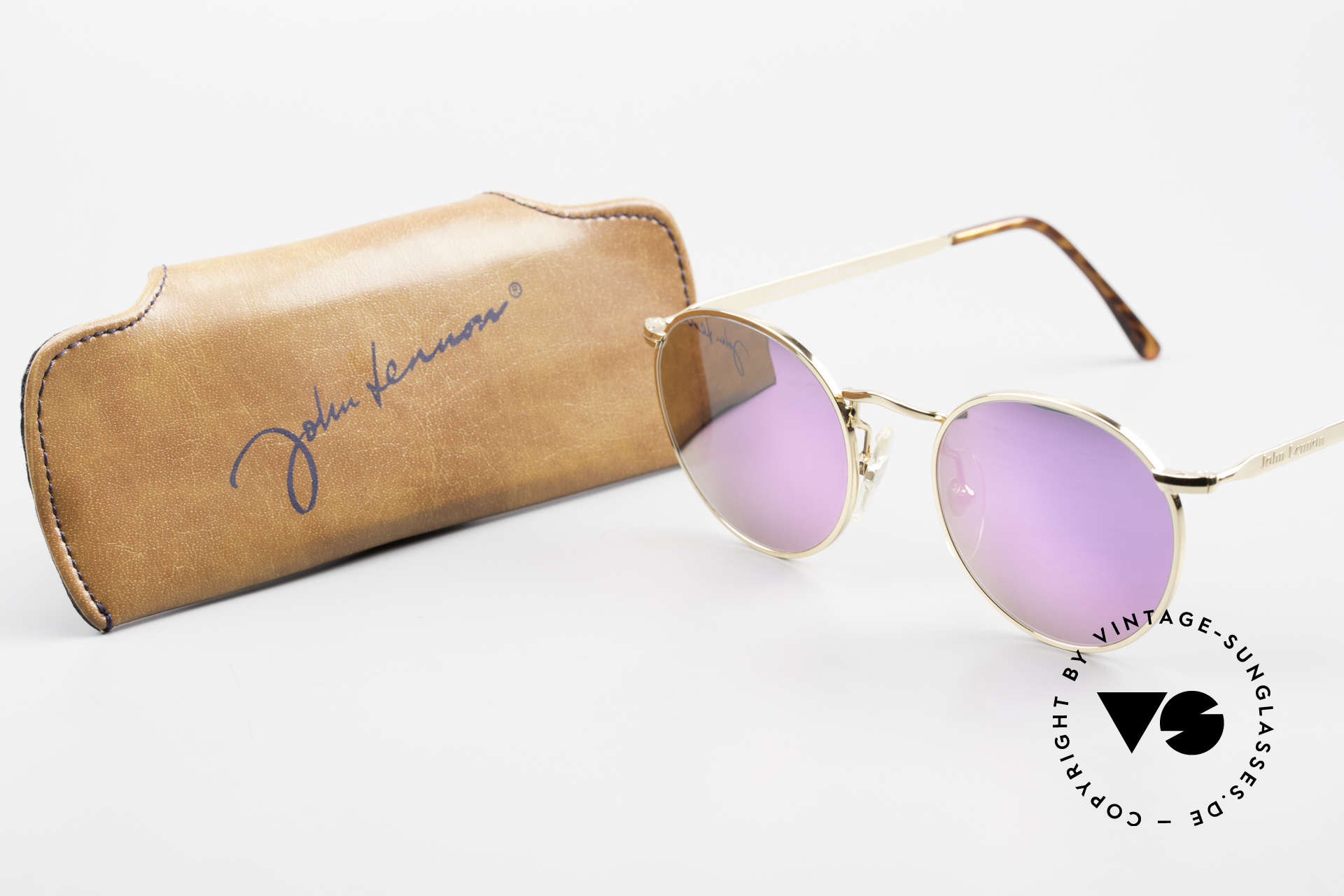 John Lennon - The Dreamer With Pink Mirrored Sun Lenses, Size: extra small, Made for Men and Women