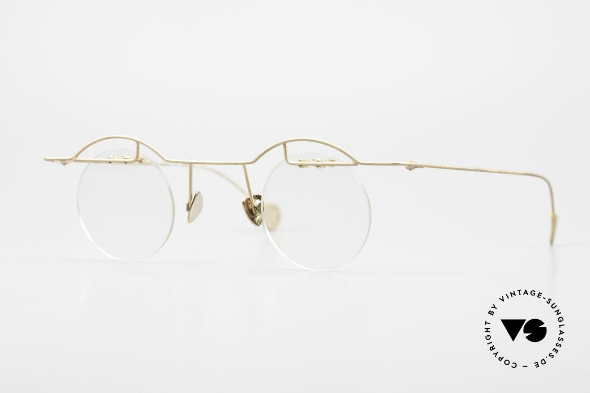 Paul Chiol 02 Bauhaus Eyeglasses Rimless, vintage 90's Paul CHIOL designer eyeglass-frame, Made for Men and Women