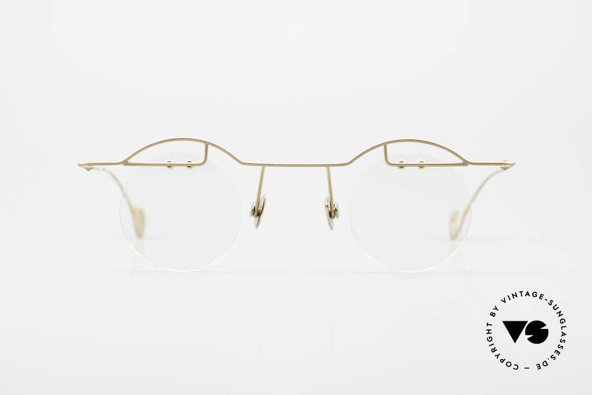 Paul Chiol 02 Bauhaus Eyeglasses Rimless, a synonym for sophisticated rimless spectacles, Made for Men and Women