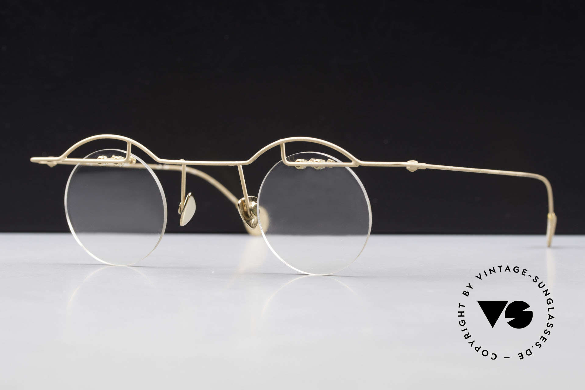 Paul Chiol 02 Bauhaus Eyeglasses Rimless, filigree and cleverly devised design; simply chichi, Made for Men and Women