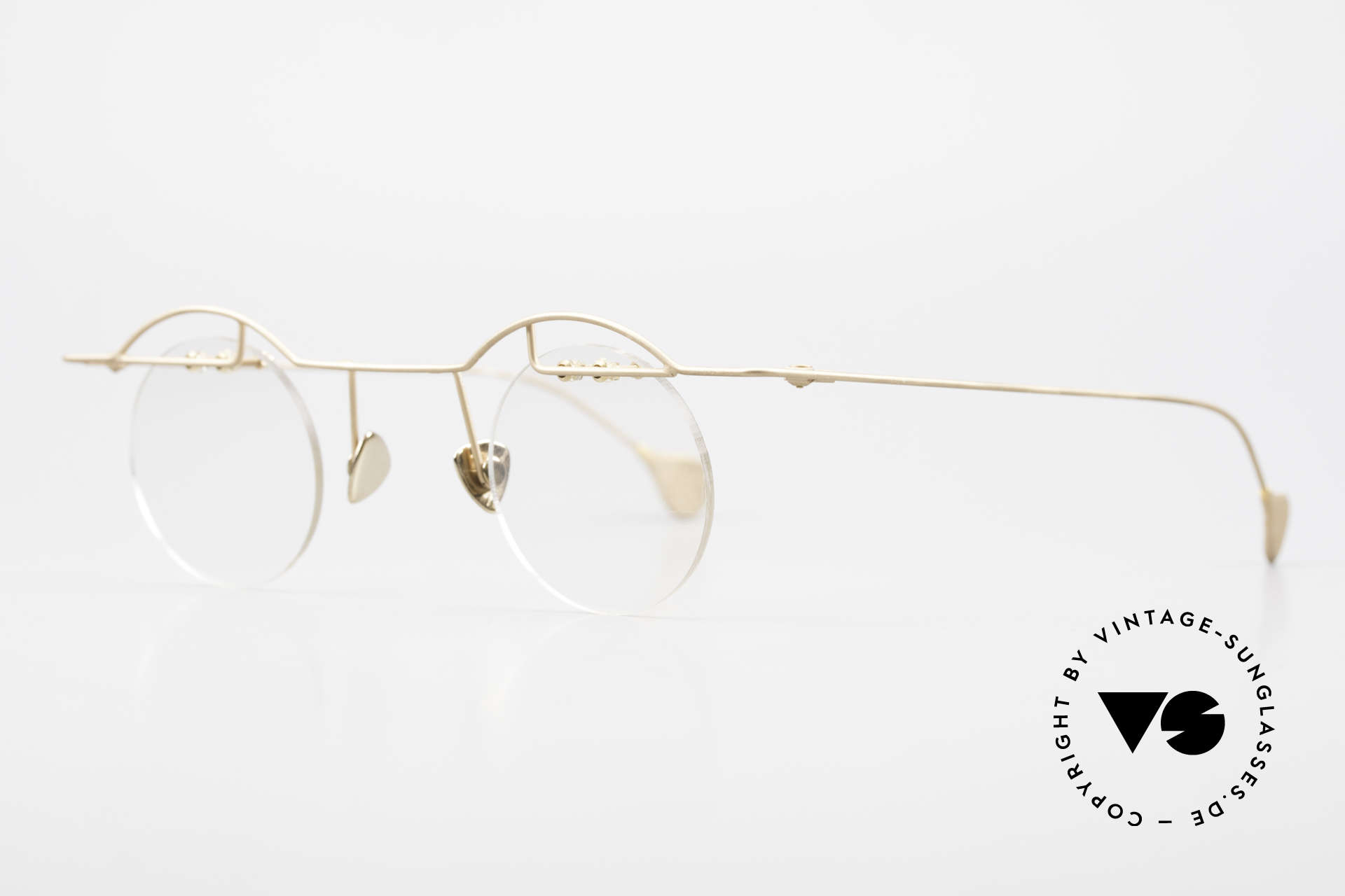 Paul Chiol 02 Bauhaus Eyeglasses Rimless, an unworn masterpiece with original DEMO lenses, Made for Men and Women