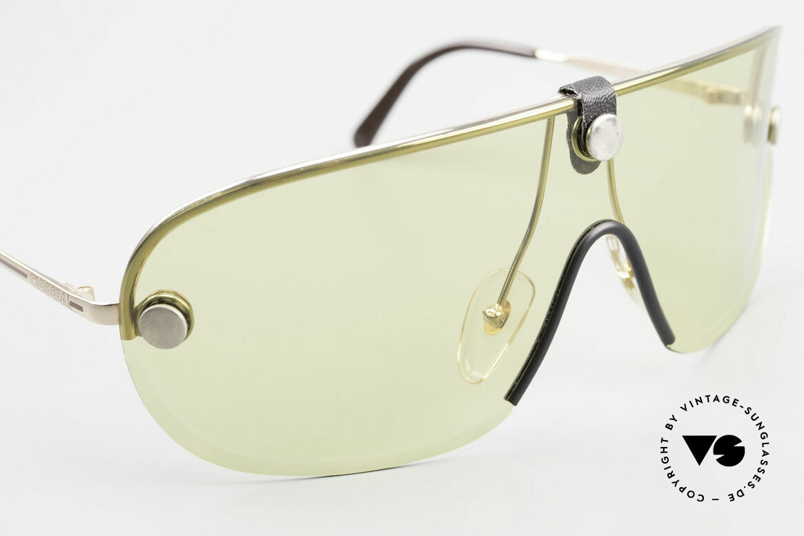 Carrera 5418 All Weather Sunglasses Polar, yellow lens wearable at dusk and bown lens at daytime, Made for Men