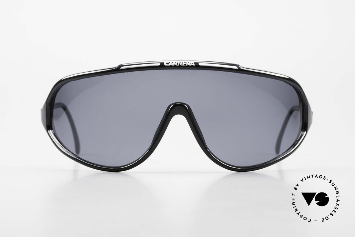 """Carrera 5430 90's Sports Shades Polarized, water and ski sports glasses """"panorama shield / mask"""", Made for Men"""