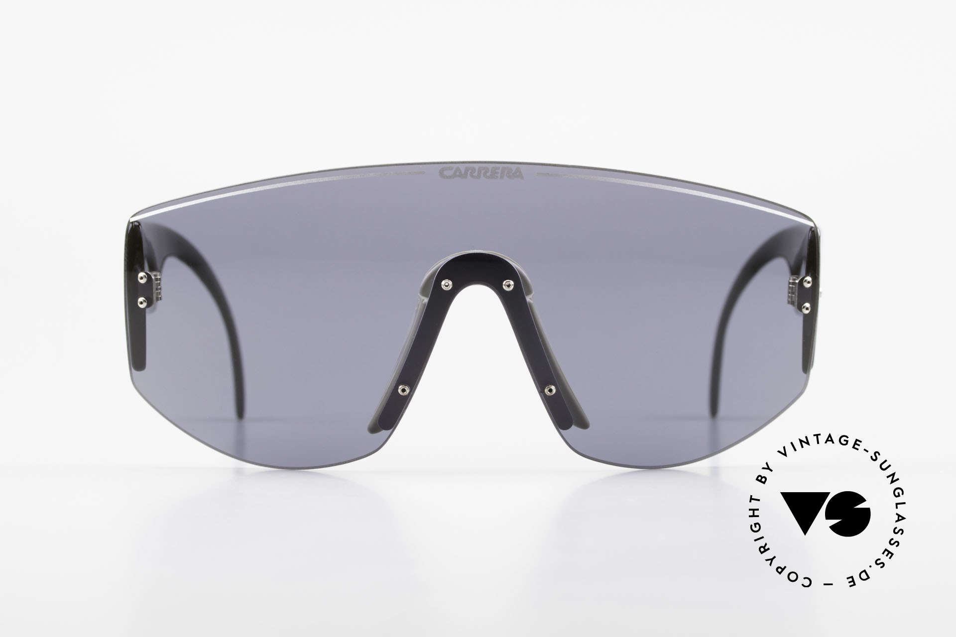 Carrera 5414 90's Sunglasses Sports Shades, rare model with one large single lens (panorama view), Made for Men