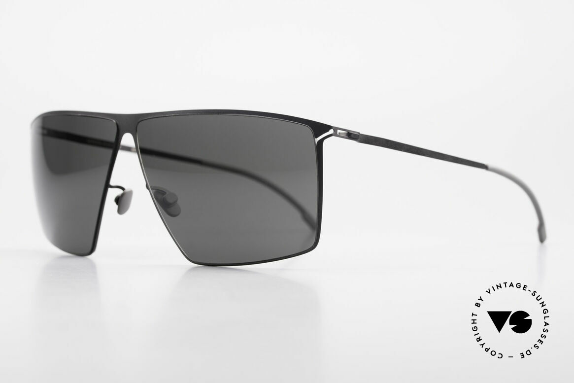 Mykita Amund Square Men's Sunglasses 2010, Amund Black, black-solid ZEISS lenses; LARGE 66/08, Made for Men