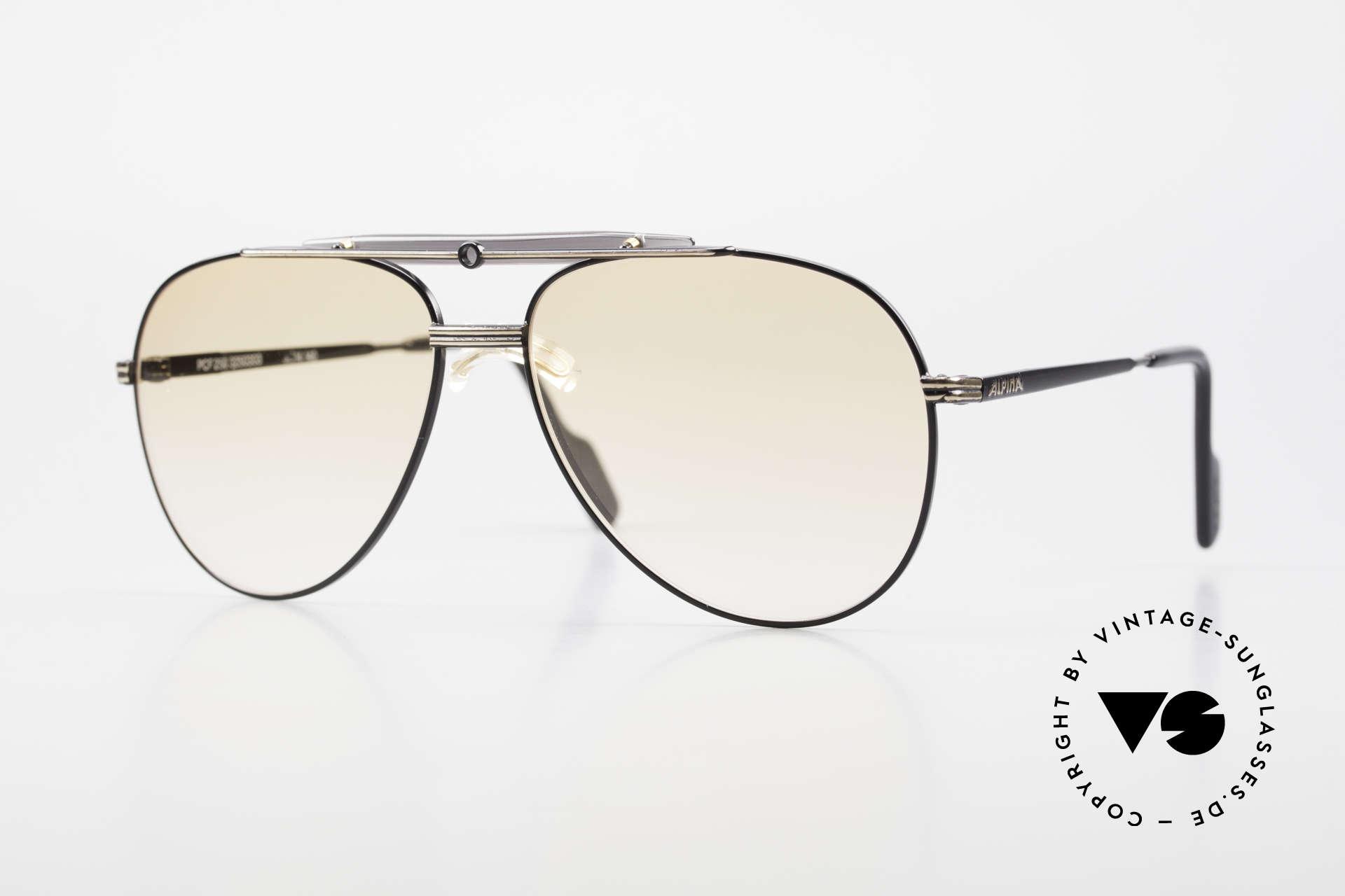 Alpina PCF 250 Sporty 90's Aviator Sunglasses, Alpina sunglasses of the legendary Procar Series, Made for Men