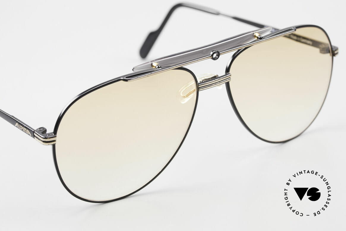 Alpina PCF 250 Sporty 90's Aviator Sunglasses, NO RETRO specs, but an app. 30 years old rarity, Made for Men