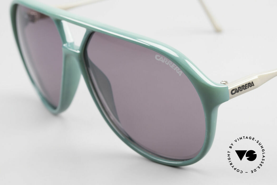 Carrera 5425 80's 90's Sports Lifestyle Shades, 2 sets of lenses: 1x green gradient C-VISION, 1x gray, Made for Men
