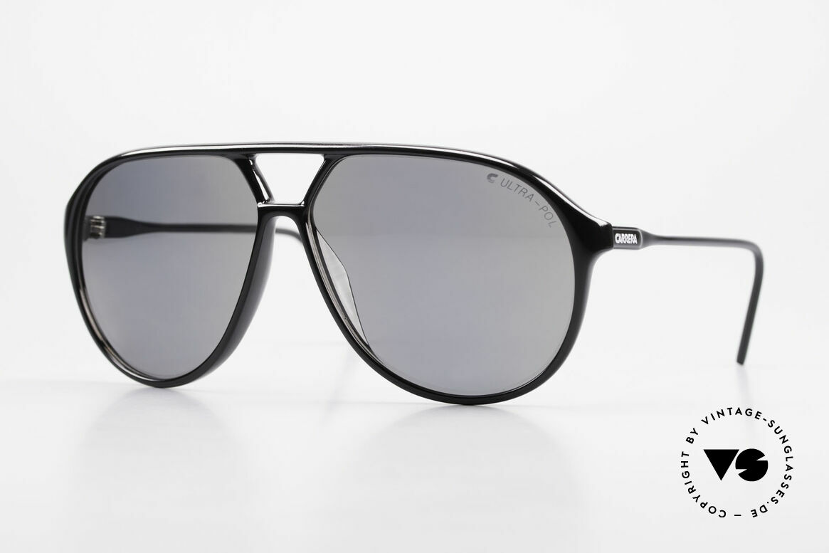 Carrera 5425 Polarized Sunglasses 80's 90's, vintage shades of the Carrera Collection from 1989/90, Made for Men