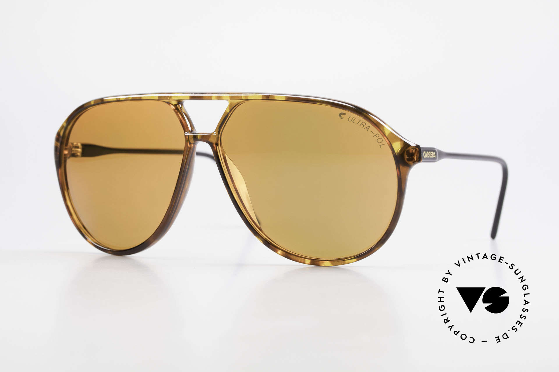 Carrera 5425 Polarized Sunglasses Aviator, vintage shades of the Carrera Collection from 1989/90, Made for Men