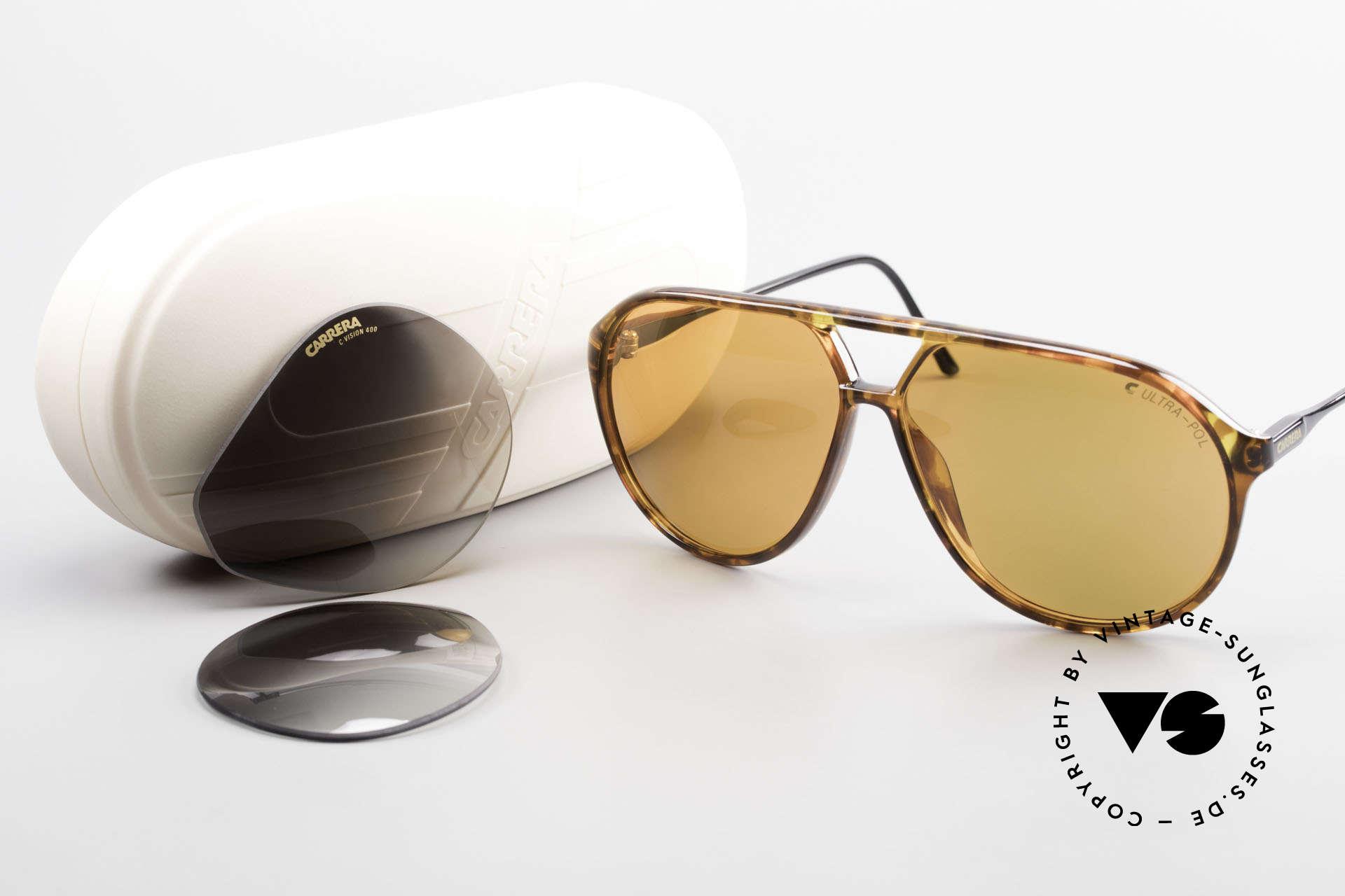 """Carrera 5425 Polarized Sunglasses Aviator, Robert De Niro wore such a model in the movie """"Casino"""", Made for Men"""