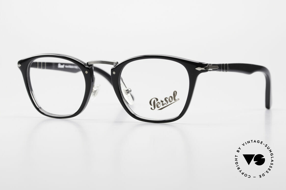 Persol 3109 Typewriter Edition Eyewear, very elegant Persol eyeglass-frame from Italy, Made for Men and Women